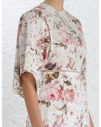 Zimmermann - Multicolor Eden Embroidered Dress - Lyst