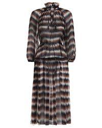 Zimmermann - Blue Harlequin Tiered Dress - Lyst