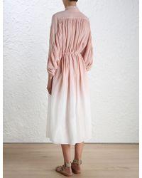 Zimmermann - Pink Chroma Ombre Dress - Lyst