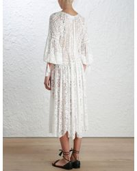 Zimmermann - Multicolor Gossamer Scallop Long Dress - Lyst
