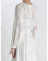 Zimmermann - Multicolor Gossamer Scallop Long Dress - Lyst