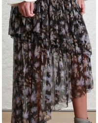 Zimmermann | Black Stranded Tier Skirt | Lyst