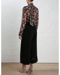 Zimmermann - Black Lace Pant - Lyst