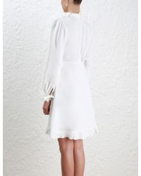Zimmermann - White Prim Shirt Dress - Lyst