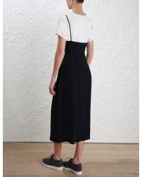 Zimmermann   Black Tee Slip Dress   Lyst