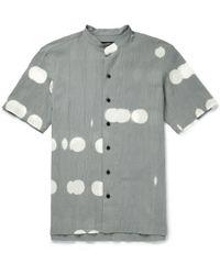 Issey Miyake Printed Cotton Shirt - Lyst
