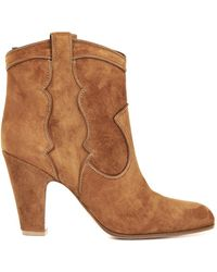 Gianvito Rossi Pearl Suede Ankle Boots - Lyst