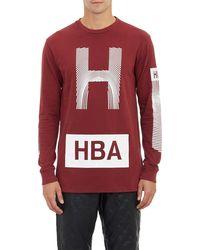 Hood By Air Thumbprint Stencil Longsleeve Tshirt - Lyst