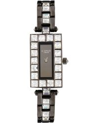 Lipsy | Stone Set Bracelet Watch With Gunmetal Dial | Lyst