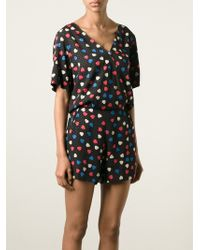 See By Chloé Heart Print Playsuit - Lyst
