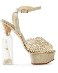 Charlotte Olympia Bottle Platform Sandals - Lyst