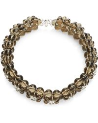 Simone Rocha - Smoke Floriform Bead Necklace - Lyst