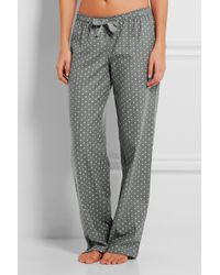 Calvin Klein - Printed Cotton-flannel Pyjama Trousers - Lyst