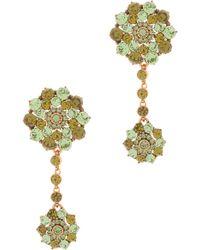 Oscar de la Renta Jeweled Drop Earrings - Lyst