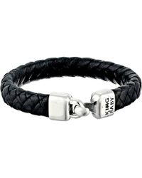 King Baby Studio Small Braided Leather Bracelet W A Hook Clasp - Lyst