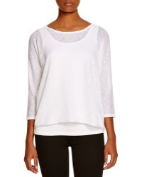 Calvin Klein | Layered Top | Lyst