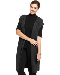 Jones New York Collection Plus Size Openfront Maxi Cardigan - Lyst