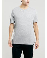Topman Lux Light Grey Marl Bib T-shirt - Lyst