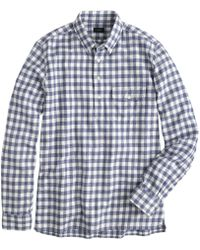 J.Crew Brushed Flannel Popover in Gingham - Lyst