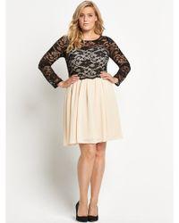 Lovedrobe Lace 2 in 1 Skater Dress  - Lyst