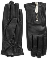 Michael Kors - Leather Zipper Gloves - Lyst
