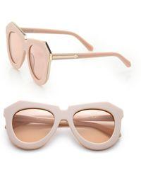 Karen Walker One Meadow 51Mm Modified Cat'S-Eye Sunglasses - Lyst