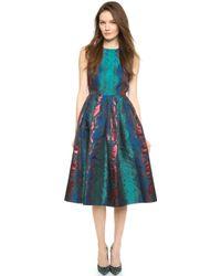House Of Holland Sleeveless Snake Jacquard Dress - Blue Snake - Lyst