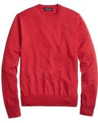 Brooks Brothers Supima® Cotton Crewneck Sweater - Lyst