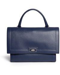 Givenchy   'shark' Medium Leather Flap Bag   Lyst