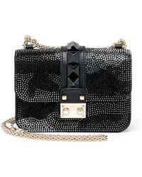 Valentino | Rocklock Mini Embellished Camouflage Crossbody Bag | Lyst