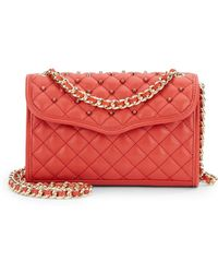 Rebecca Minkoff Mini Affair Studded Quilted Leather Bagscarlett - Lyst