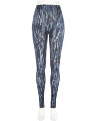 River Island Blue Design Forum Abstract Print Leggings - Lyst