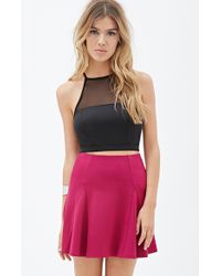 Forever 21 Pleated Skater Skirt - Lyst