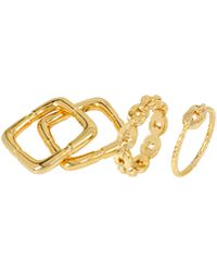 Diane von Furstenberg - Chain Link & Square-shaped Rings - Lyst