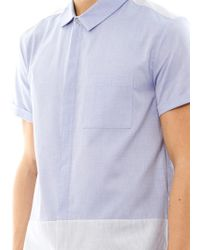 Richard Nicoll - Zip Front Cotton Shirt - Lyst
