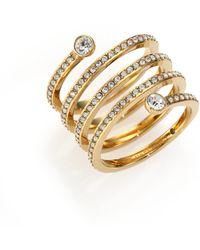 Michael Kors | Park Avenue Glam Pavé Spiral Ring/goldtone | Lyst