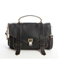 Proenza Schouler Black Leather Ps 1 Medium Satchel Bag - Lyst