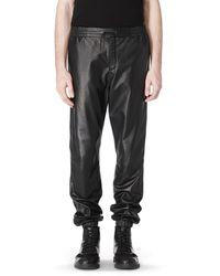 Alexander Wang Lightweight Matte Leather Track Pant - Lyst