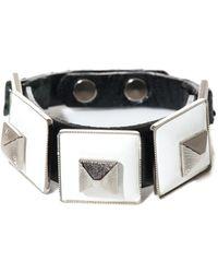 Toga - Square Pyramid Leather Bracelet - Lyst
