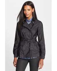 Burberry Brit 'Peasdale' Belted Short Trench Coat - Lyst