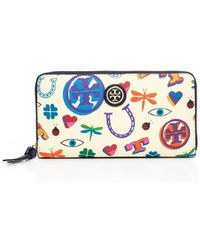 Tory Burch Kerrington Zip Continental Wallet - Lyst