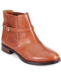 Ivanka Trump Leather Chelsea Boots - Lyst