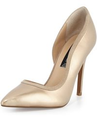 Steven by Steve Madden Whiiskey Two-Tone D\'Orsay Pump - Lyst