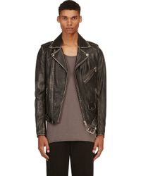 Diesel Black Faded L_seddik Biker Jacket - Lyst