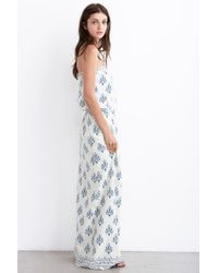 Velvet By Graham & Spencer Eloise Printed Silk Noile Strapless Maxi Dress - Lyst