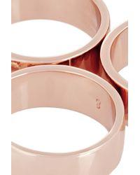 Eddie Borgo - Rose Gold-plated Five-finger Ring - Lyst