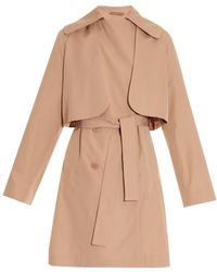 Carven Double-Breasted Trench Coat - Lyst