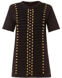 Balmain Rope and Crystal-embellished T-shirt - Lyst