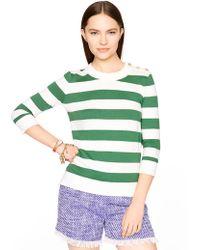 Kate Spade Stripe Sweater green - Lyst