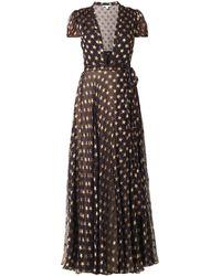 Diane Von Furstenberg Black Tamara Gown - Lyst